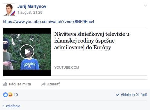 Muž z videa Jurij Martynov ho zdieľal i cez vlastný účet na Facebooku