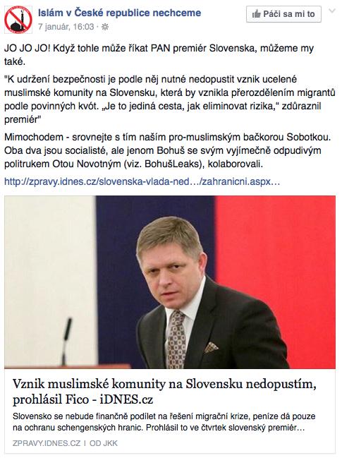 Islamofóbna elita v USA jasá nad výrokmi slovenského premiéra