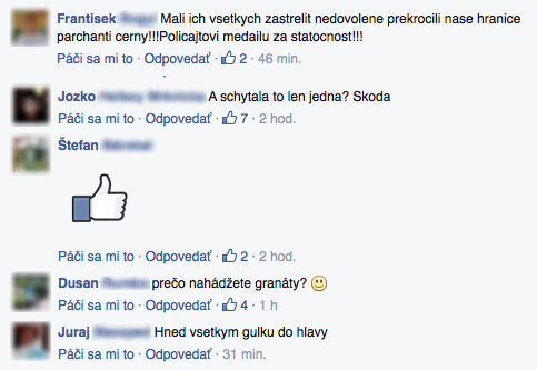 Facebooková stránka portálu Topky.sk
